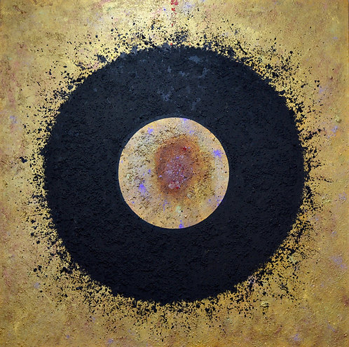"""""""Ceremonial Sun Series"""" Acrylic/Mixed on Canvas - 72"""" x 72"""" - by Doug Coffin"""