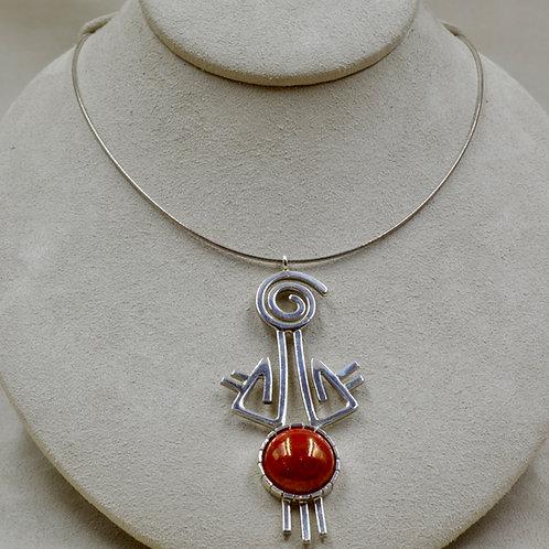 Hopi Stories Necklace w/ Vintage 30s Hubbel Glass by Jacqueline Gala