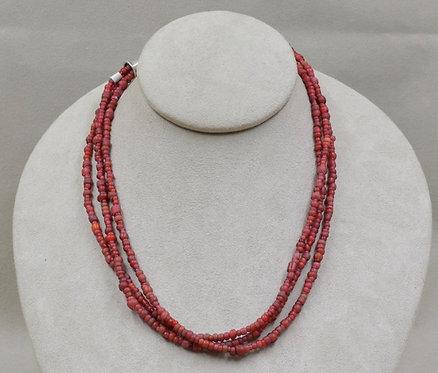 Three Strand Trade Bead Necklace by Richard Lindsay