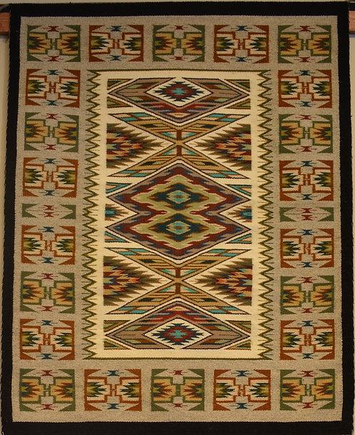 """Darlene Littleben Teec Nos Pos Navajo Weaving - 50"""" X 39"""""""
