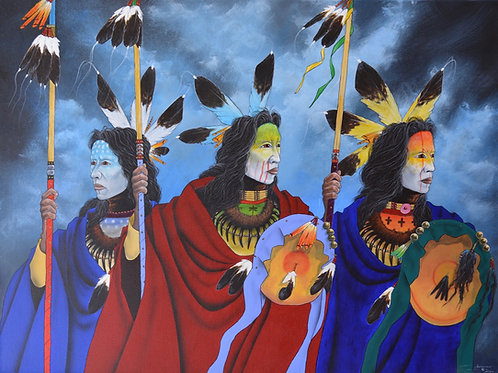 """""""Into the Storm"""" by Yellowman, Navajo"""