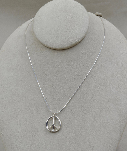 Infinite Peace Petite Necklace on SS Chain by Charles Sherman