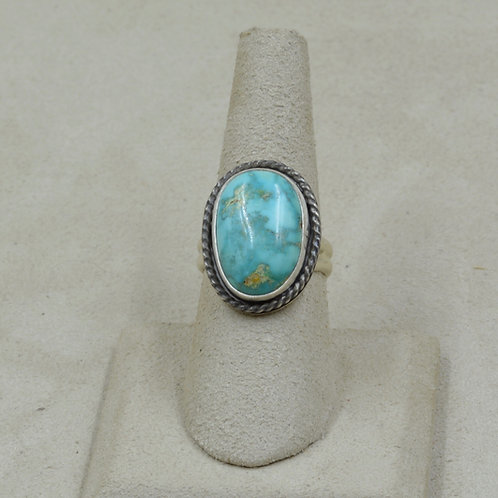 Natural Carico Turquoise Twist Wire 7.25X Ring by Joe Glover