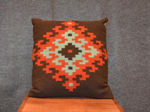 """Set of 2 Fino Black Zapotec Pillows - 20"""" X 20"""""""