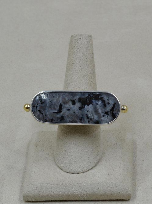 2-Piece Set - Australian Moonstone w/ Triangle Band 8.5x Ring by Melanie DeLuca