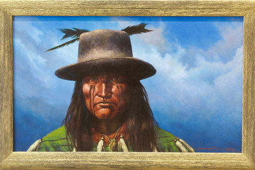 """'Raven Clan' - Oil on Canvas - 18 1/2"""" x 28"""" Framed by Anderson Kee"""