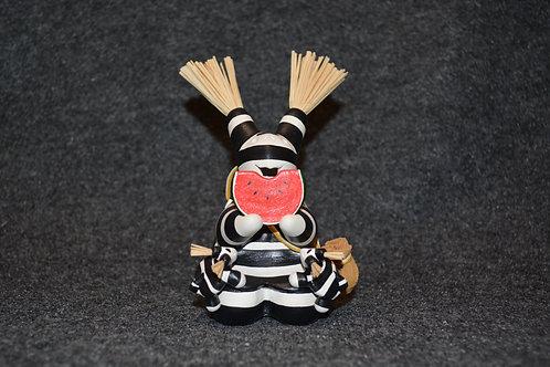 "Mini Koshare Storyteller w/ Watermelon Sculpture by Randy Chitto 5.5 x 2.5"""