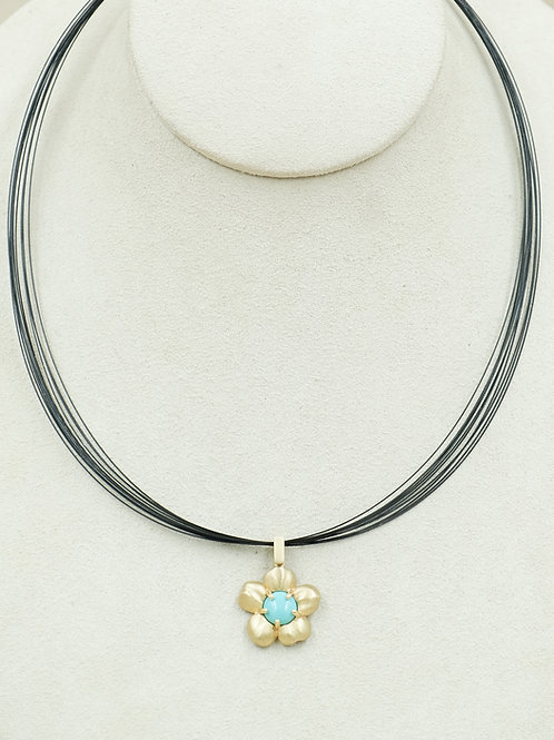 12-Strand Blackened Stainless Steel Necklace by Reba Engel