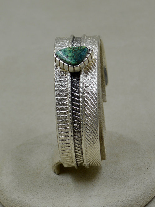 SS Tufa Cuttle Cast w/ Natural New Lander Turquoise Cuff by Althea Cajero