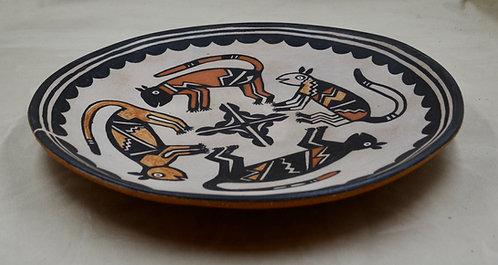 "Mountain Lion Plate - 14""Dia x 1 3/4"" H - by Robert Tenorio"