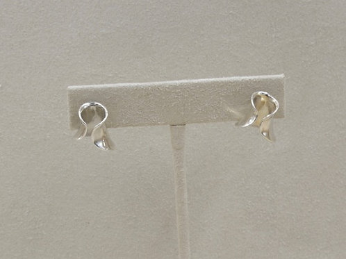 Sterling Silver Baby Helicurve Earrings by Richard Lindsay