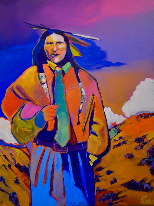 """Armani Indian #2"" Enhanced Giclee 40"" x 32"" by Malcolm Furlow"