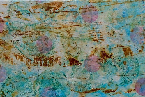 """A Dragonfly's View"" Fabric on Canvas Transfer - 36"" x 12"" - by Chris Turri"