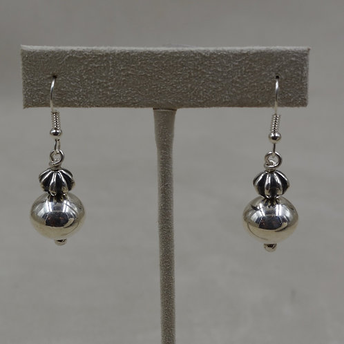 Sterling Silver Small Fluted Wire Earrings by Bryan Joe