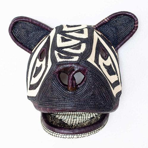 "Cultural Cat Emberá Mask by Erenia Cabrera - 12""W x 11""H"