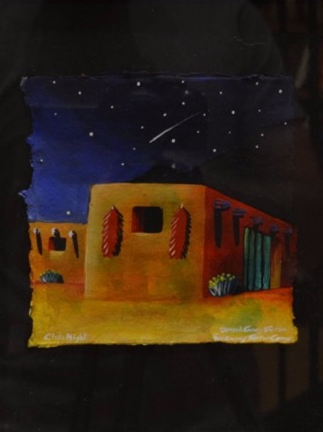 """""""Pueblo Night Scene #3"""" by David Gary Suazo, Taos Pueblo"""