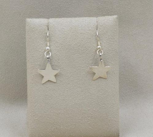 Sterling Silver Charm Star Earrings by Richard Lindsay