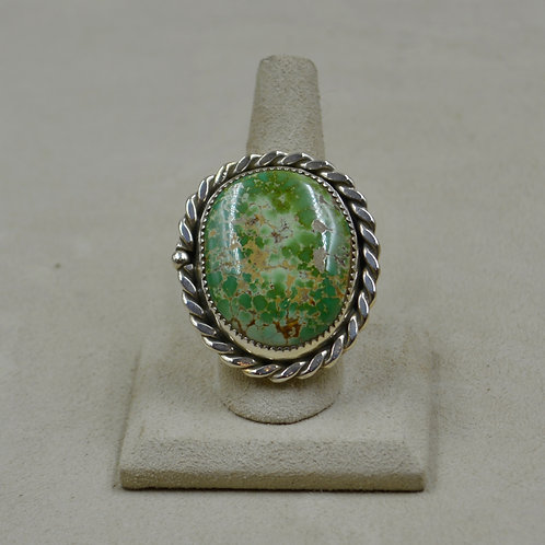 Carico Lake Turquoise 10.5x Sterling Silver Ring by James Saunders