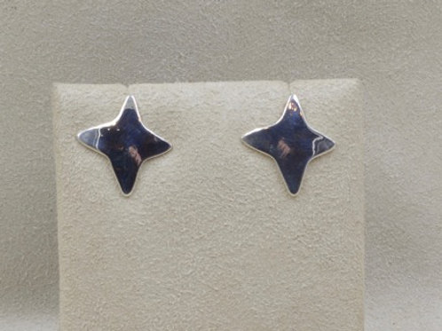 Sterling Silver Morning Star Earrings by Richard Lindsay