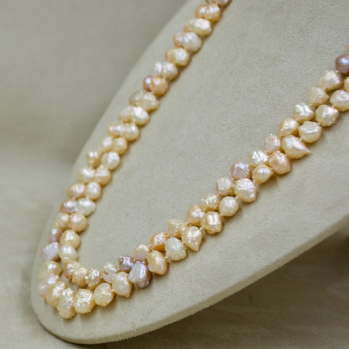"""Lone Rosebud Pink Cultured Freshwater Pearl 48"""" L Necklace by US Pearls"""