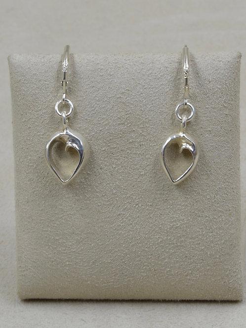 Sterling Silver Heart of Infinity Earrings by Charles Sherman