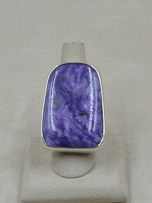 Large Charoite & Sterling Silver 8.5x Ring by Melanie DeLuca