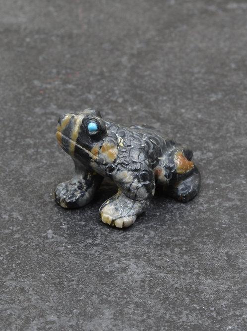 Frog Fetish - Picasso Marble - by Karen Zunie - Zuni
