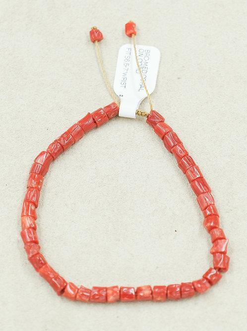 Medium Coral On Cord Bracelet by True West Jewelry