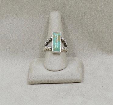 Large Rectangular Turquoise Ring 8X by JL McKinney