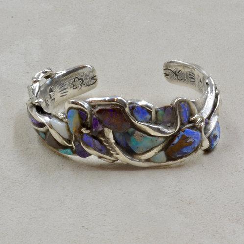 Boulder Opal & Sterling Silver Cuff by Robert Mac Eustace Jones