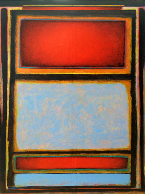 """Pieces of the Sky"" - Acrylic on Canvas - 48"" x 36"" - by Rhett Lynch"
