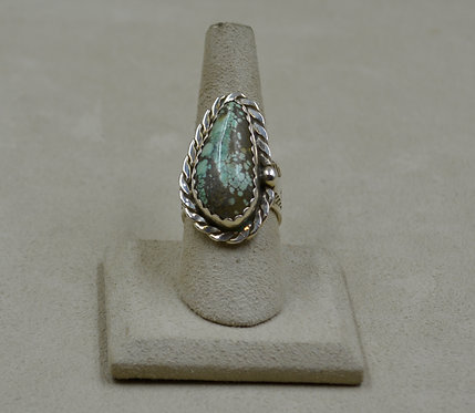 Candelaria Turquoise in Teardrop Shape 7.5x Ring by James Saunders