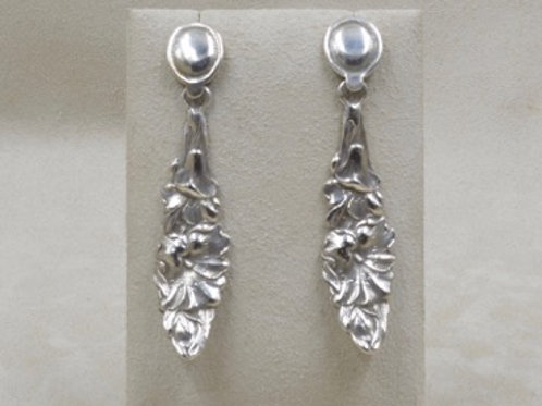 4 O'Clock Top Heavy Sterling Silver Earrings by Jerry Faires