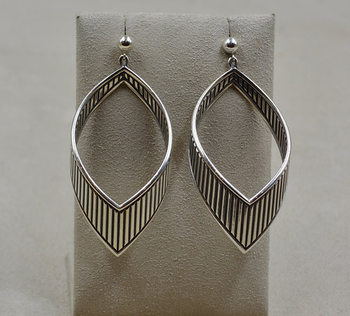 Bow Style Sterling Silver Earrings by Steve Taylor