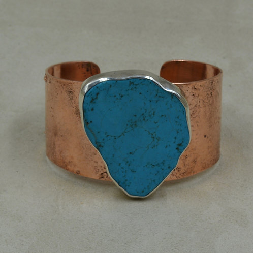 Copper & Turquoise Cuff by Richard Lindsay