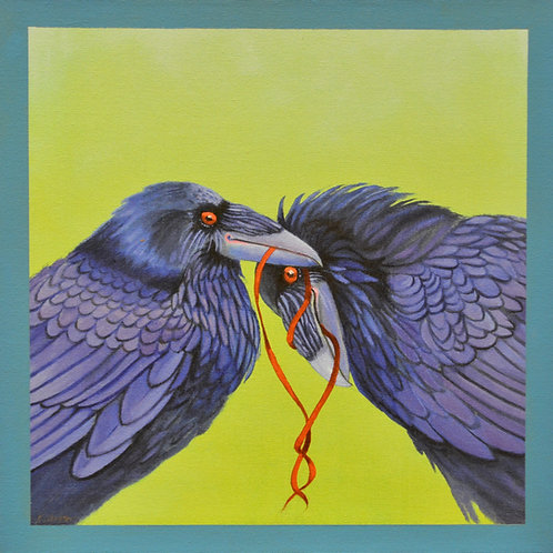 """Let's Tie One On"" Giclee on Canvas - 20"" x 20"" - by Karen Clarkson"
