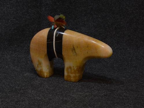 Marble & Onyx Bear by Cliff Fragua, Jemez Pueblo