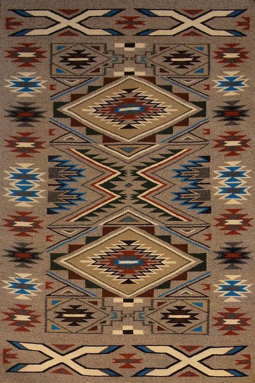 "Angeline Begay Teec Nos Pos Navajo Weaving- 46"" X 30"""