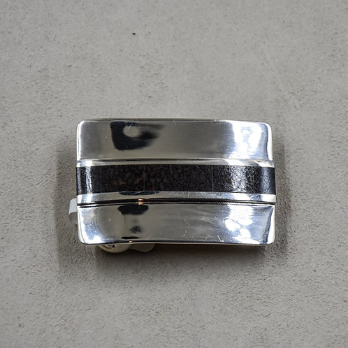 Dinosaur Bone and Sterling Silver Buckle by John Rippel