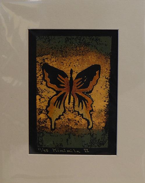 """Kimimila 2"" 11/45 Hand-Pulled Block Print by Sandy Swallow"