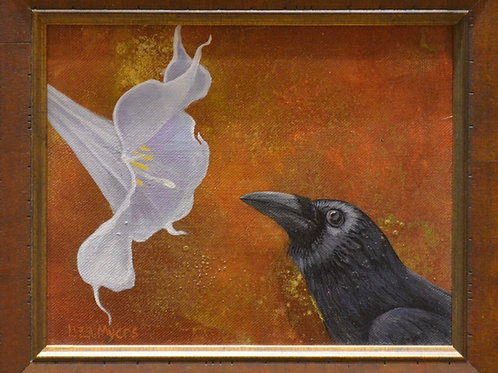 """""""Raven with Datura"""" by Liza Myers"""