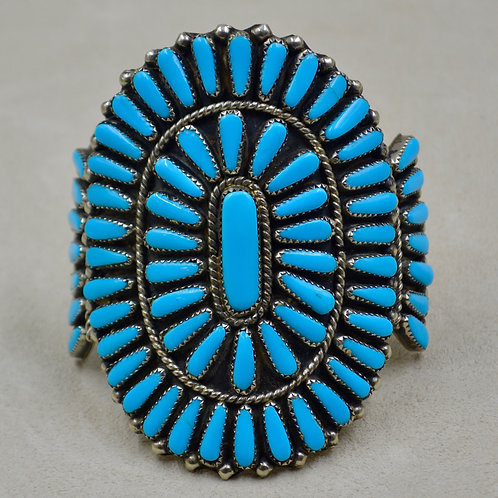Vintage 60's Natural Sleeping Beauty Turquoise Cluster Cuff by Crucita Tenorio