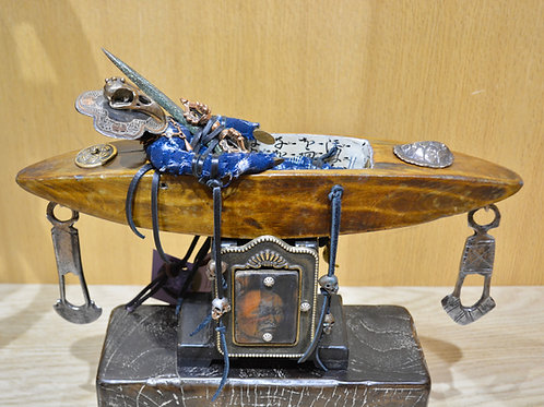 Boat Person - Mixed Media Sculpture by Melanie DeLuca
