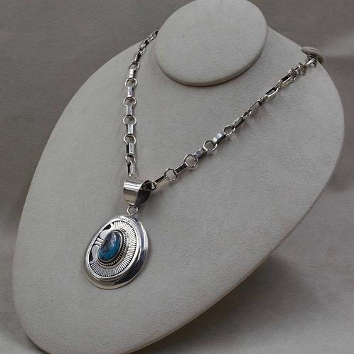Sterling Silver Handmade Chain by Leonard Nez