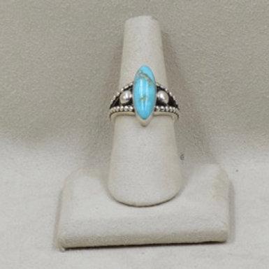 Raindrop Oval Kingman Turquoise 5X and 6X by JL McKinney
