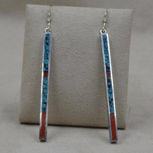 Long Dancing Stick Earrings by Michael and Melanie Lente