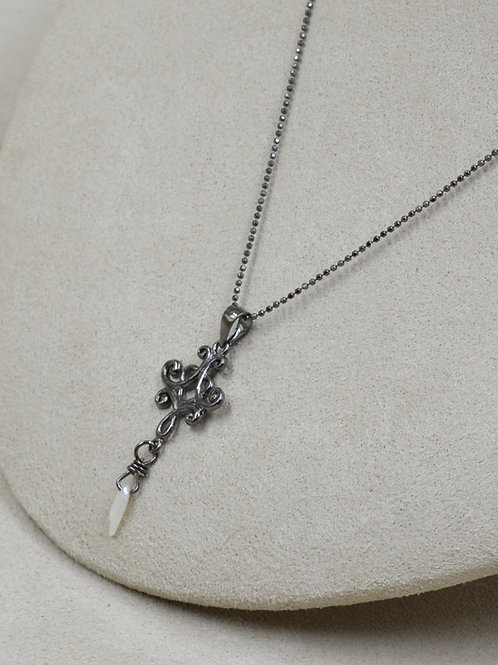 Freshwater Pearl Pendant on Rhodium Plated Chain by US Pearl Co.