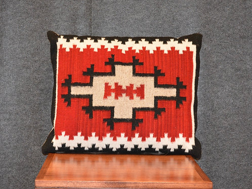 """Set of 2 Fino Navajo Style Pillows Red - 20"""" X 23"""""""