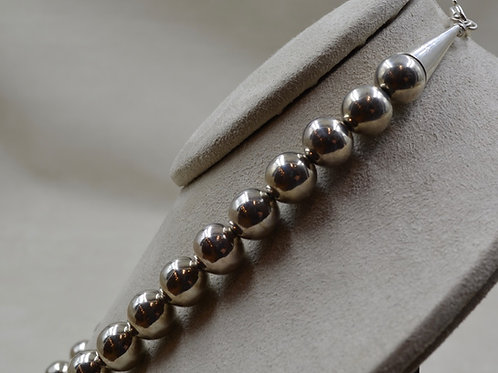 Sterling Silver Bright Handmade Beads Necklace by Lapidary Mastery