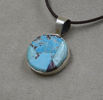 Sterling Silver and Sleeping Beauty Turquoise by Dukepoo